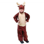 RUDOLPH REINDEER ALL IN ONE CHILDRENS FANCY DRESS COSTUME